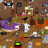 Scary Halloween Room Objects