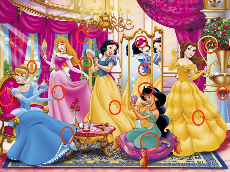 Image result for Princess Hidden Numbers