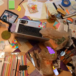 Messy Dining Table