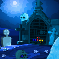 MirchiGames Moonlight Skull Forest Escape