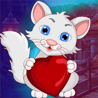 G4K Lovely Heart Cat Escape