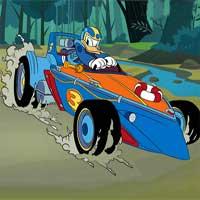 Donald Duck Hidden Car Tires RaceCarGamesOnline