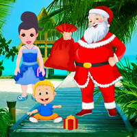Santa Surprise at the Seashore
